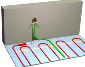 Пример установки теплого пола в стяжке
