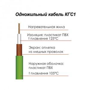 Описание строения одножильного кабеля КГС 1